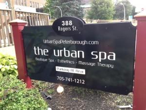 New Sign At The Urban Spa
