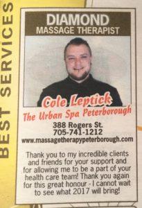 Cole Leptick Urban Spa Peterborough
